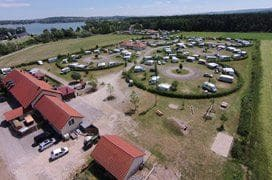 Campingplatz - Luftaufnahme