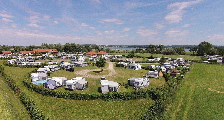 """Luftbild vom Campingplatz """"Zum Fischer-Michl"""""""